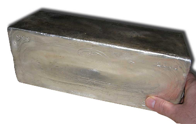 As silver as
